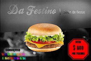 Menu de hamburguesas